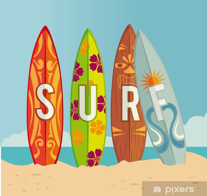 Surf design Vinyl Wall Mural - Accesories and Objects