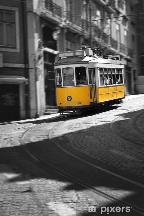 Famous Tram number 28 in Lisbon Vinyl Wall Mural - European Cities