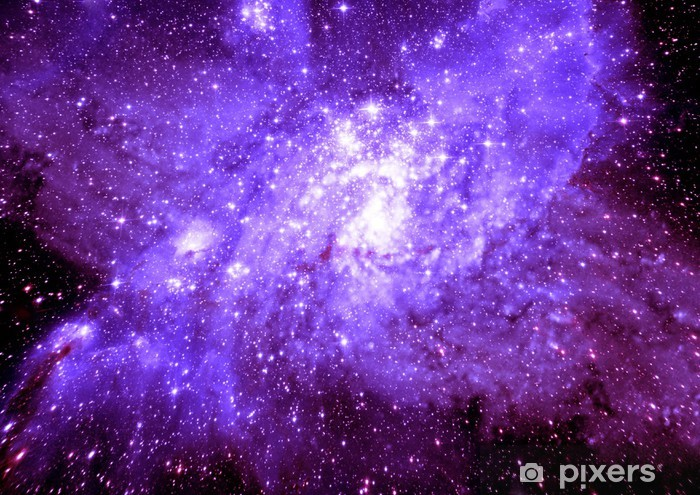 Sticker Pixerstick Étoiles d'une planète et galaxie dans un espace libre - Nébuleuse