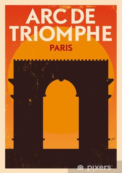 Vinyl-Fototapete Stadt Paris Typografische Design- - Zeichen und Symbole