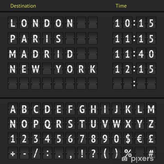 Sticker Pixerstick Tableau de bord de l'aéroport analogique - Thèmes