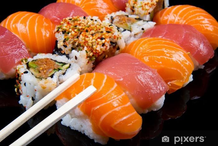 Carta da Parati in Vinile Sushi e rotoli - Sushi