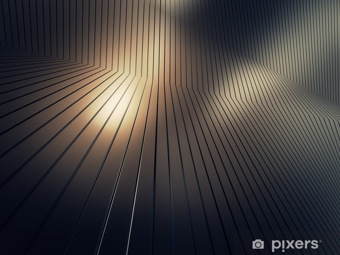 shiny metal plate Vinyl Wall Mural - Styles