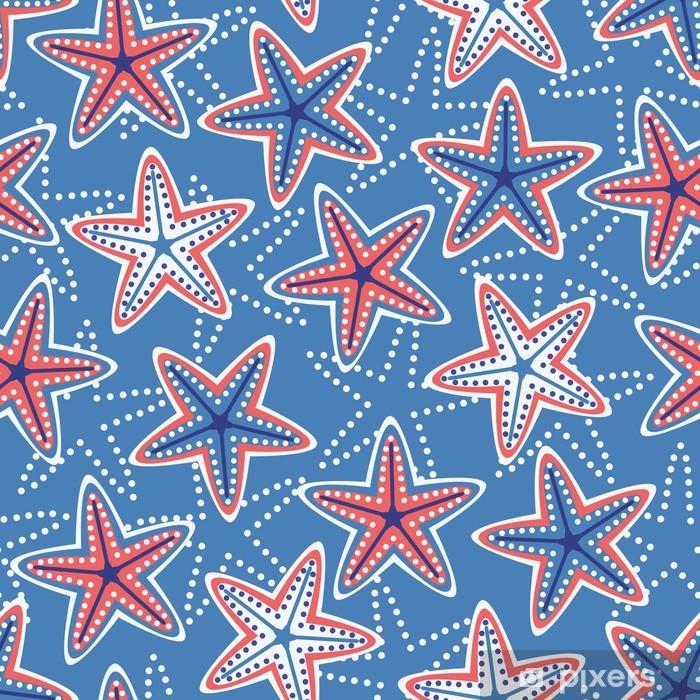 Plakat Bez szwu deseń z gwiazdami - Tematy