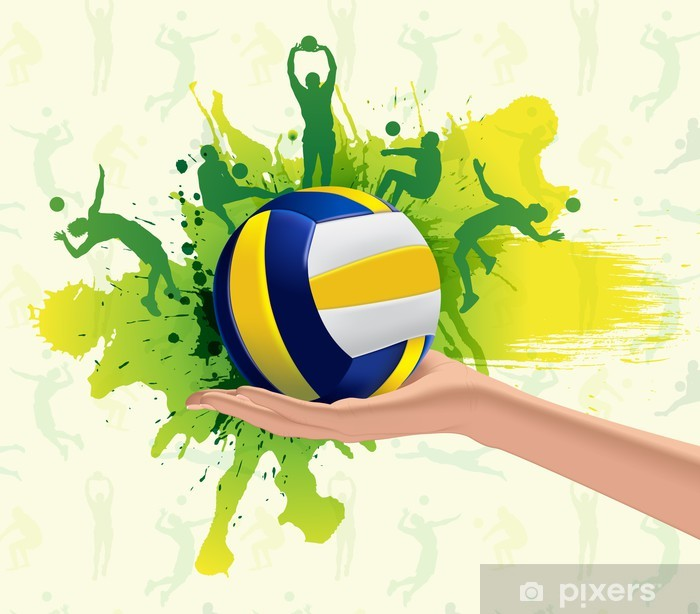 Volleyball Sport Design Background Wall Mural Pixers