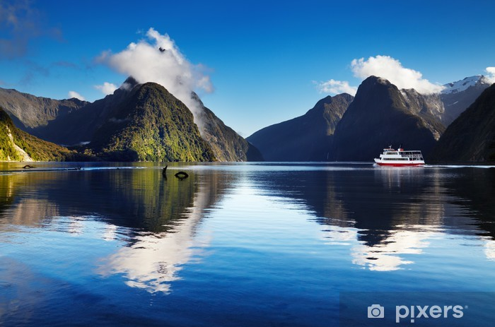 Milford Sound, New Zealand Pixerstick Sticker - Themes