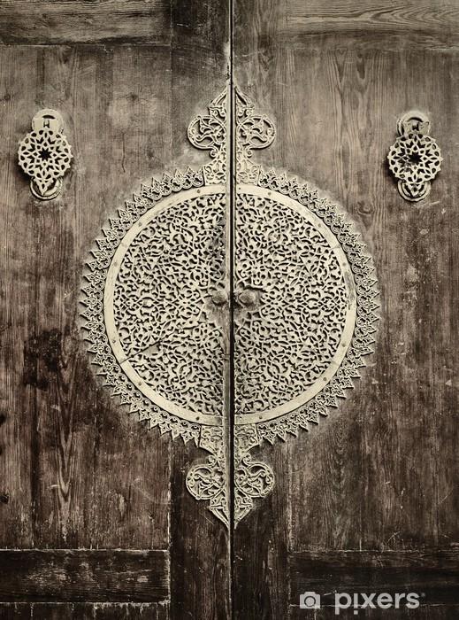 close-up image of ancient doors Pixerstick Sticker - iStaging