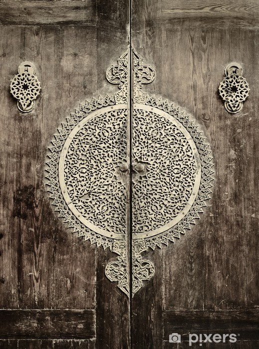 close-up image of ancient doors Vinyl Wall Mural - iStaging