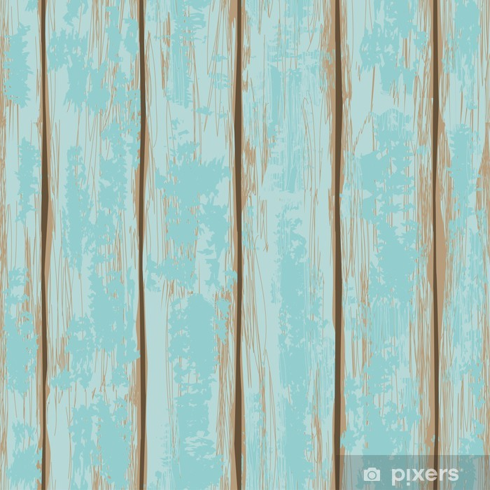 Seamless pattern of wooden boards Washable Wall Mural - Backgrounds