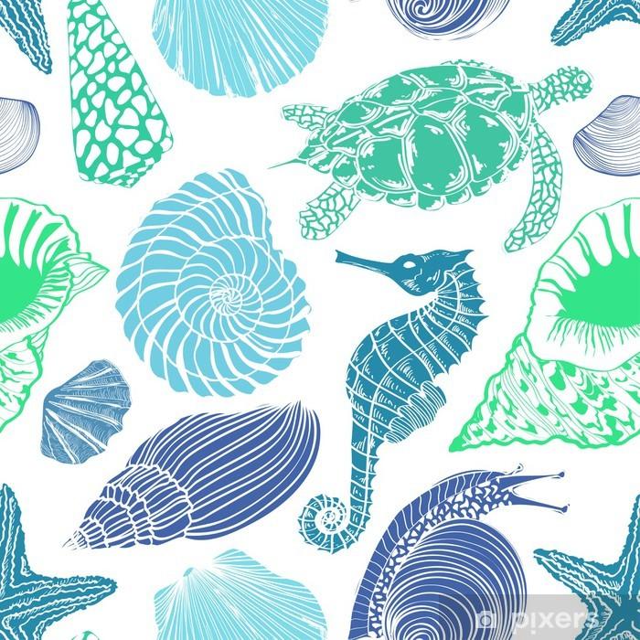 Papier peint vinyle Seamless des animaux marins - Animaux