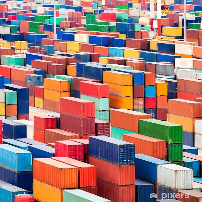 Vinyl Fotobehang Container Terminal - Zware Industrie
