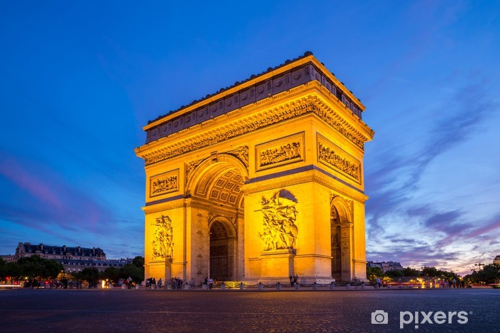 Vinyl Fotobehang Boog van Triomphe, Parijs - Europese steden