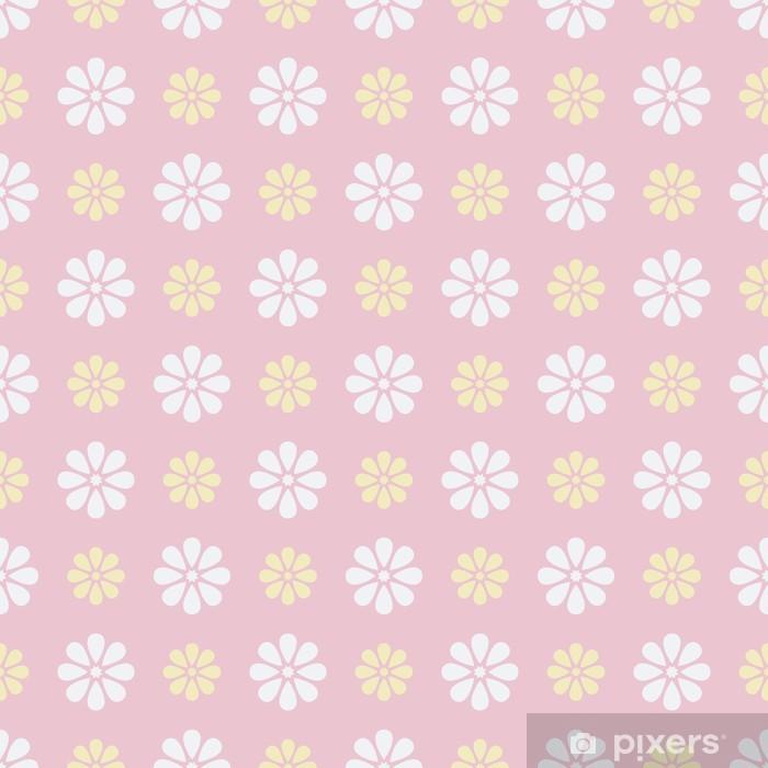 Plakat Ładny wektor szwu (płytki). Słodki różowy, biały -
