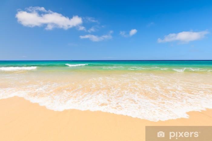 Pixerstick Sticker Prachtige oceaan strand - Palmbomen