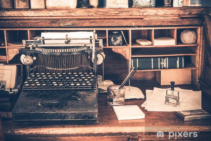 Papier peint vieux bureau machine à écrire vintage u pixers