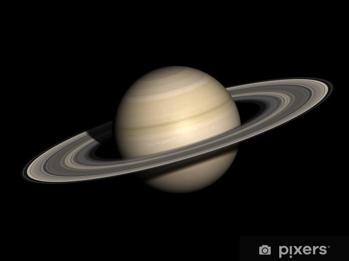 Papier peint vinyle Saturne isolé sur noir. - Planètes