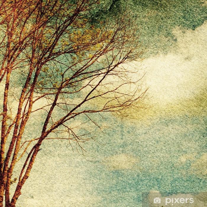 Plakat Grunge rocznika tle przyrody - Tematy