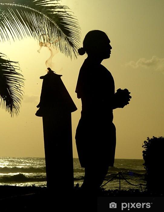 Fototapeta winylowa Hawaje sylwetka 2 - Wakacje