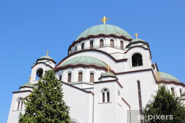 Vinylová fototapeta Bělehrad - Katedrála svatého Sava - Vinylová fototapeta