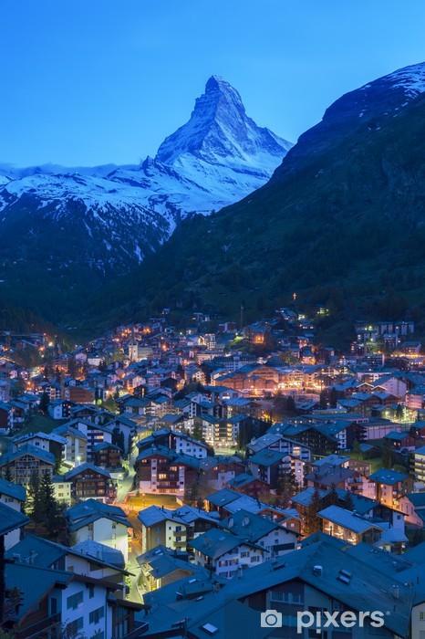 Naklejka Pixerstick Zermatt Szwajcaria - Europa