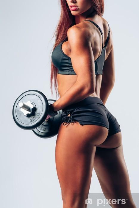 Pixerstick Sticker Fitness vrouw - Gezondheid