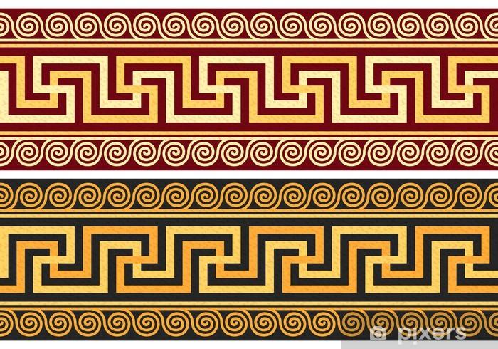 Sticker Pixerstick Vecteur frise avec l'ornement grec (Méandre) - Styles