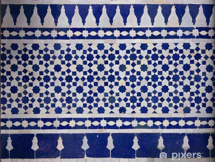 Vinilo para Nevera Zellige marroquí del modelo del azulejo - África