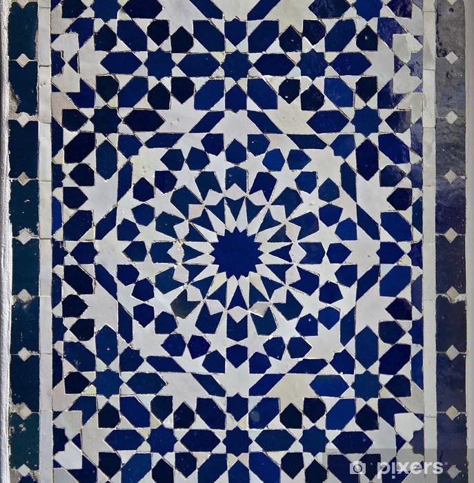 Vinilo para Nevera Zellige marroquí del modelo del azulejo - Marruecos