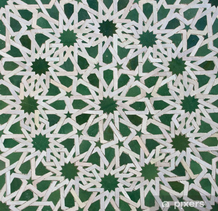 Poster Zellige marokkanischen Fliesen-Muster - Afrika
