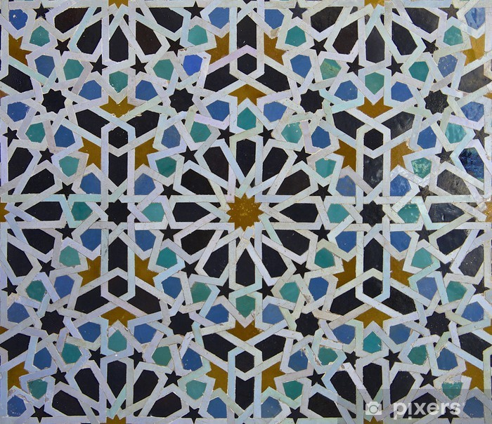 Plakat Marokański zellige wzór płytki - Płytki