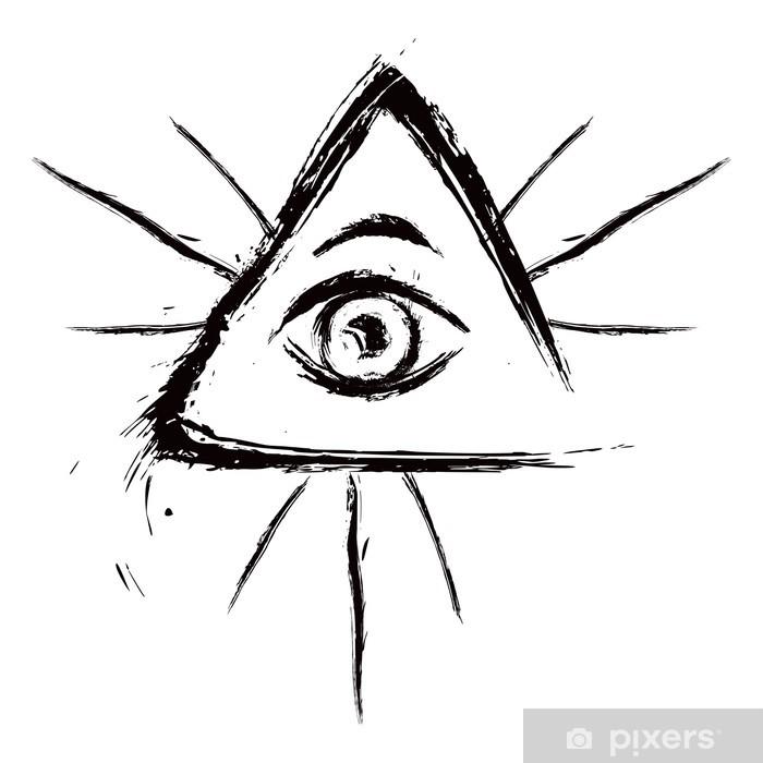 Fototapeta Winylowa Oko Opatrzności Symbol Stworzony W Stylu Grunge