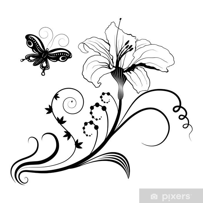 Poster Abstrait design floral - Fleurs