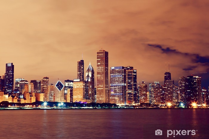 Chicago Vinyl Wall Mural - Themes