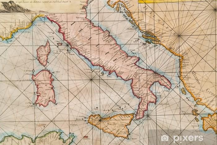 Vanha Kartta Italia Sisilia Korsika Kroatia Ja Sardinia Tapetti