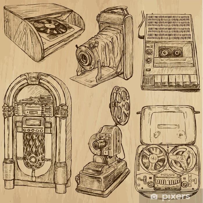 Poster Alte Objekte no.3 - Hand gezeichnet Vektor-Sammlung - Haus und Garten