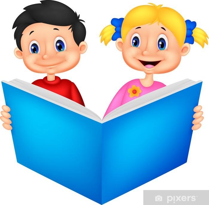 Fototapet Barn läser en bok • Pixers® - Vi lever för förändring