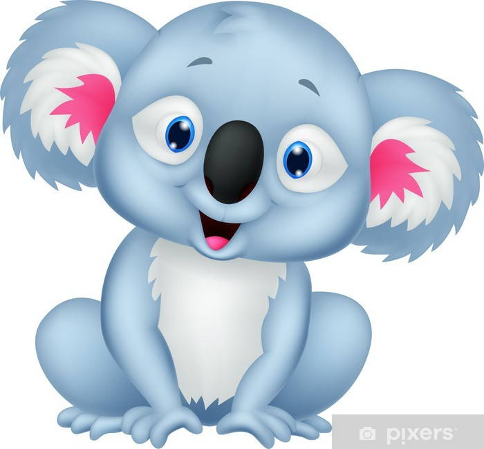 Plakat Cute cartoon koala - Naklejki na ścianę
