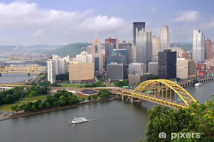 Papier peint vinyle Ville de Pittsburgh à la fin de l'après-midi - Amérique