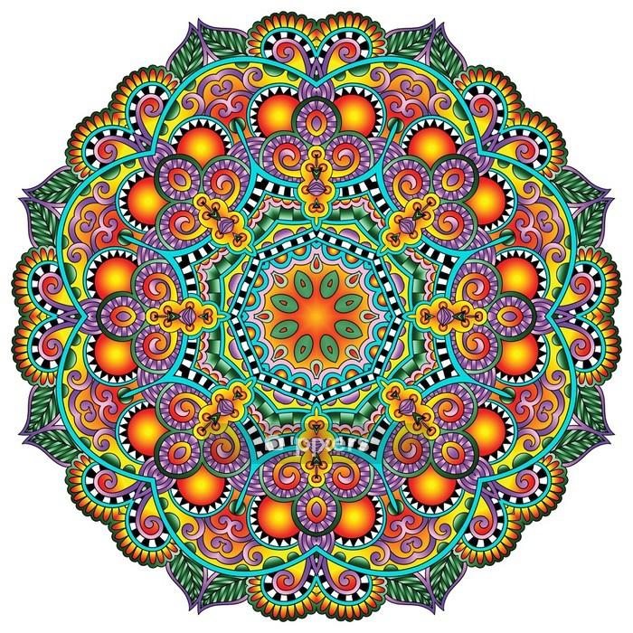 Vinilo para Pared Adornos de encaje Círculo, Diseño geométrico tapete ornamental redondo, - Estilos
