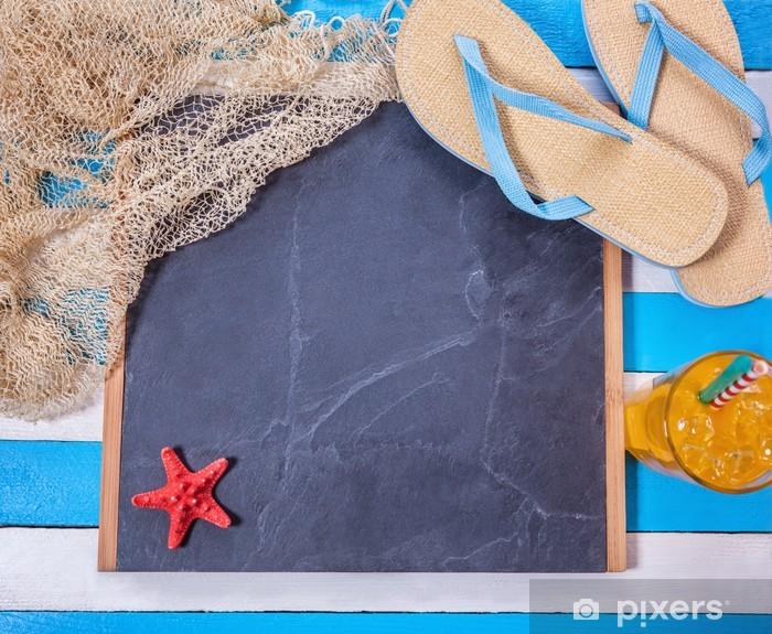 Naklejka Pixerstick Summer Beach Scene - Wakacje