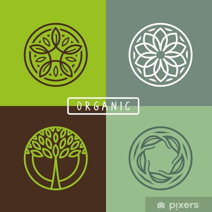 Poster Vector abstract-Emblem - Ökologie - Zeichen und Symbole