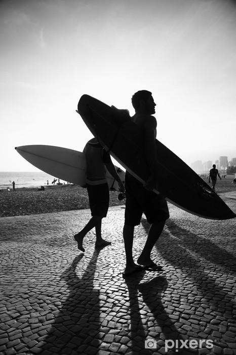 Fototapeta winylowa Rzeka słońca internautów desek surfingowych harpun Brazylia - Miasta amerykańskie