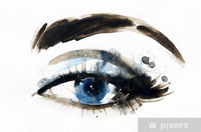 Fototapeta winylowa Oko kobieta. Ręcznie malowane ilustracji mody - Tematy