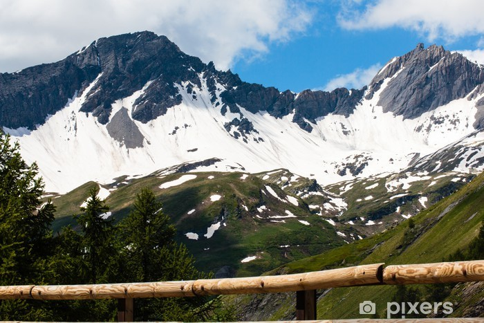 Naklejka Pixerstick Kleine sint Bernhard pas, la-Thuile, Dolina-d'Aosta, Italie - Europa