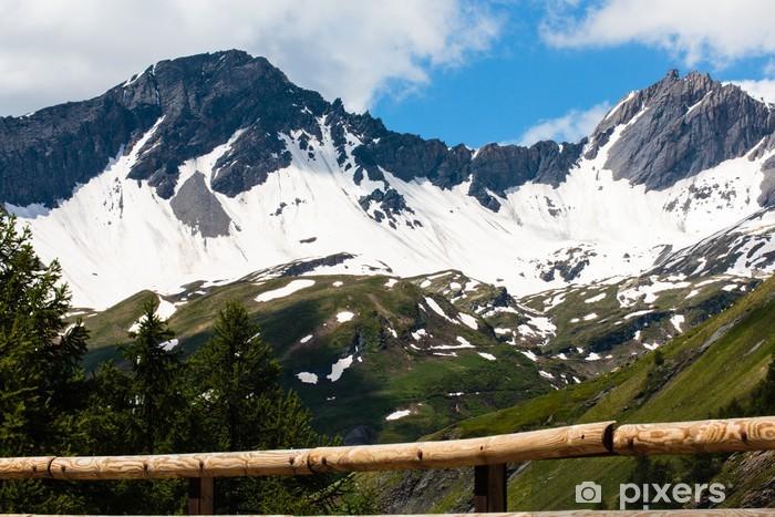 Papier peint vinyle Pas Kleine Sint Bernhard, La-Thuile, Val-d'Aosta, ITALIE - Europe