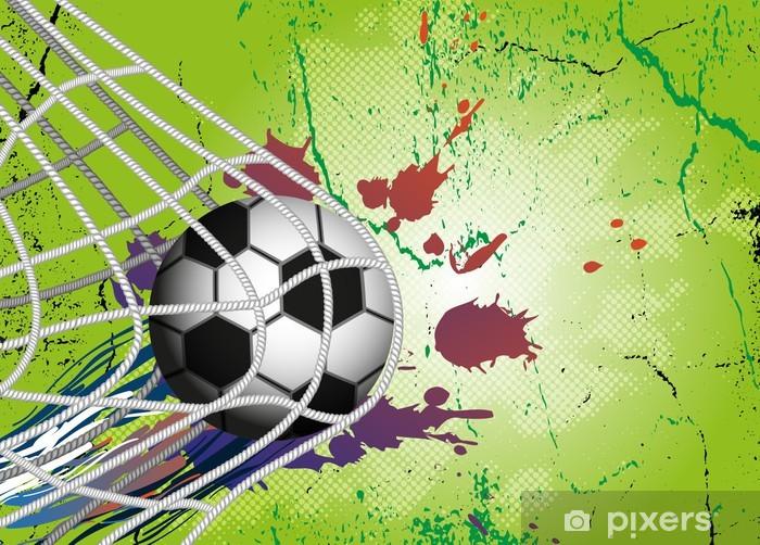 Sticker Pixerstick Ballon de football sur fond de conception du football -