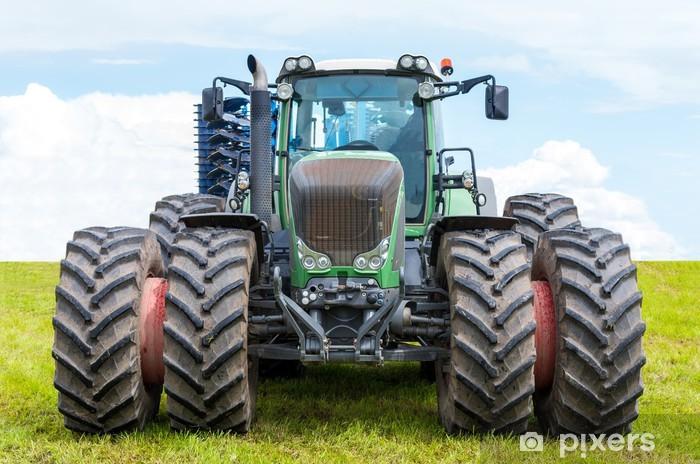 Vinil Duvar Resmi Büyük traktör ön. -