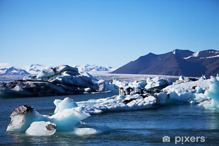 Sticker Pixerstick Iceberg Lagoon, Jökulsárlón lac, l'Islande - Merveilles naturelles
