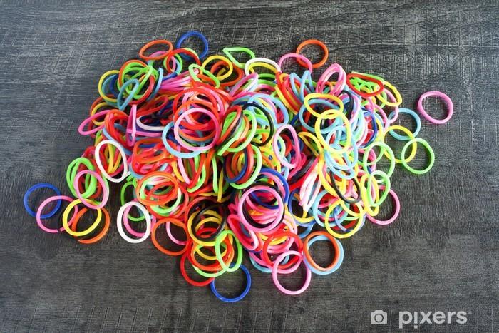 Papier peint vinyle Un arc en ciel de la mode des bandes de caoutchouc bracelet de métier - Textures