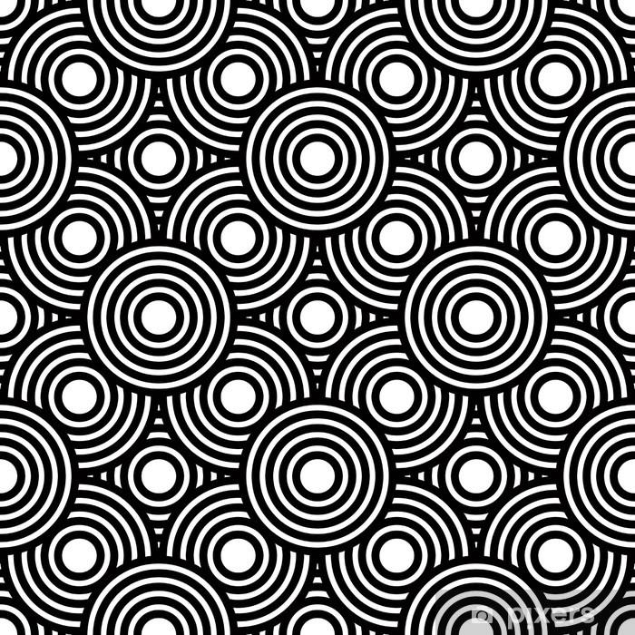 79f52e9ff7c3e Vinilo Pixerstick Sin fisuras en blanco y negro de vectores de fondo  geométrica